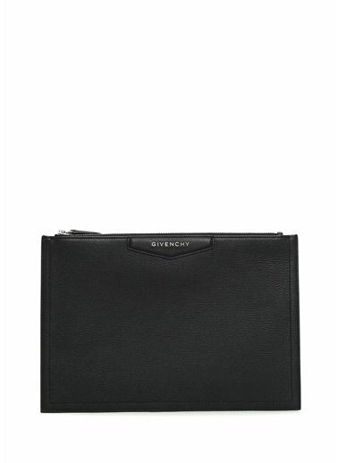 Givenchy Givenchy 101539496 Deri Fermuar Kapatmalı Logolu Kadın El Çantası Siyah